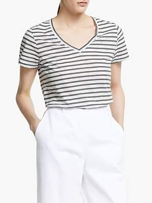 John Lewis & Partners Slub Stripe T-Shirt