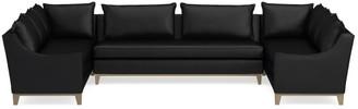 Williams-Sonoma Presidio Leather 3-Piece U-Shape Sectional