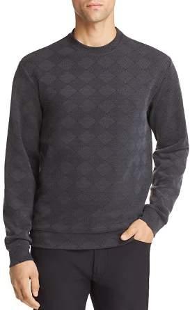 Emporio Armani Geometric Textured Jersey Pullover