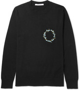 Givenchy Slim-fit Embroidered Cashmere Sweater