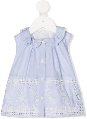 Chloé Kids Embroidered Sleeveless Blouse