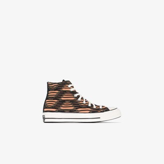 Converse brown Chuck 70 vibrant knit high top sneakers