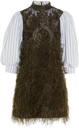 Ganni Feathery Layered Mini Dress