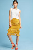 Harlyn Tiered Fringe Pencil Skirt