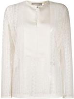 Lanvin lace panelled blouse