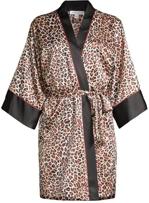 In Bloom Baby It's You Leopard-Print Robe