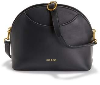 Nat & Nin Appoline Zipped Leather Shoulder Bag
