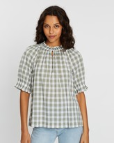 Gap Short Sleeve Ruffle Sleeve Top