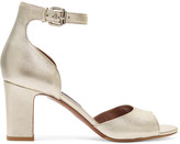 Tabitha Simmons Jerry Metallic Leather Sandals - Gold