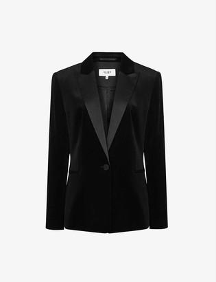 Reiss Vixen single-breasted velvet blazer