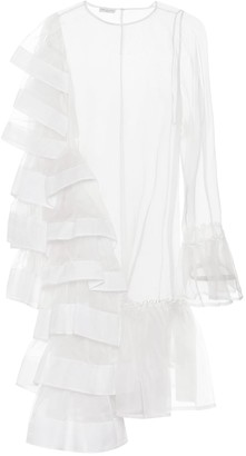 Dries Van Noten Ruffled silk organza minidress