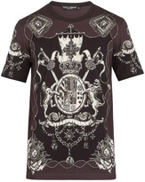 Dolce & Gabbana Crest-print cotton T-shirt