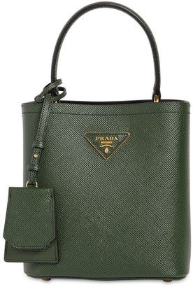 Prada Panier Double Leather Top Handle Bag