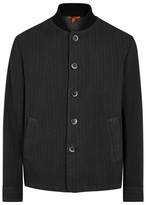 Barena Lanza Striped Charcoal Cotton Jacket