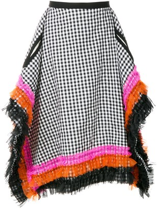 Comme des Garcons Pre-Owned gingham check square skirt