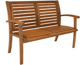OUTDOOR INTERIORS Outdoor Interiors Luxe Bench in Brazilian Eucalyptus