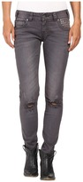 Rock and Roll Cowgirl Low Rise Skinny in Grey Wash W0S8492