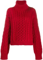 Alanui roll-neck fitted sweater