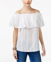 Style&Co. Style & Co Ruffled Off-The-Shoulder Top, Created for Macy's