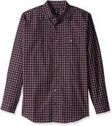 Van Heusen Men's Big and Tall Long Sleeve Heathered Plaid Shirt