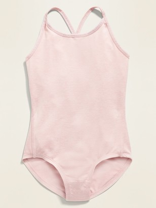 Old Navy Go-Dry Solid Strappy Leotard for Girls