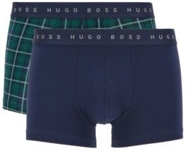 HUGO BOSS Gift Boxed Two Pack Of Trunks In Stretch Cotton Jersey - Green