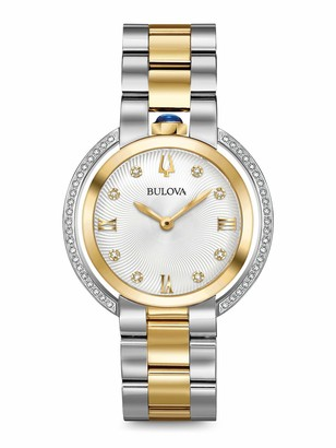 Bulova Womens Analogue Quartz Watch with Stainless Steel Strap 98R246