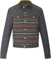 Loewe Striped Denim and Corduroy Jacket