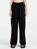 Calvin Klein Platinum Belted Extreme Wide Pants