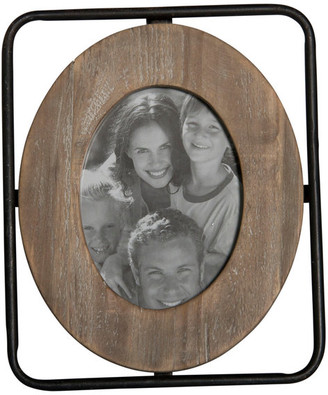 """American Mercantile Wood and Metal Picture Frame, 4""""x6"""""""