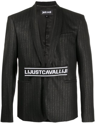 Just Cavalli Logo Band Striped Blazer