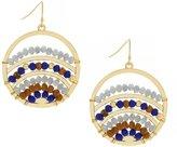 Jessica Simpson Home Grown Fashion Beaded Drop Hoop Earrings