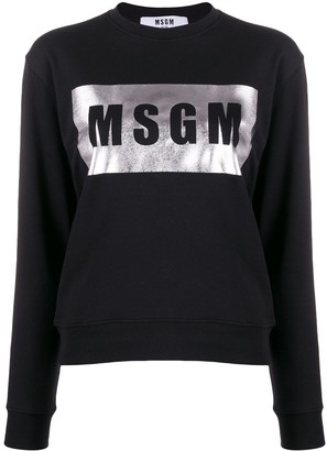MSGM Foil Logo Print Sweatshirt