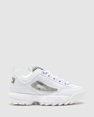 Fila Women's White Lifestyle Sneakers - Disruptor II Snake - Size One Size, 6 at The Iconic