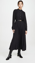 Micro Dot Dress with Belt