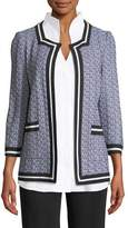 Misook 3/4-Sleeve Textured Jacket, Plus Size