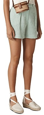 Whistles Pleated Gingham Shorts