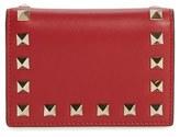Valentino Women's 'Rockstud' Card Case - Red