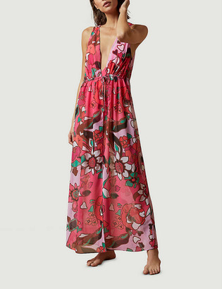 Ted Baker Honorr floral-print chiffon maxi dress