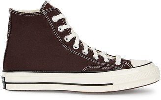 Converse Chuck 70 Dark Brown Canvas Hi-top Sneakers