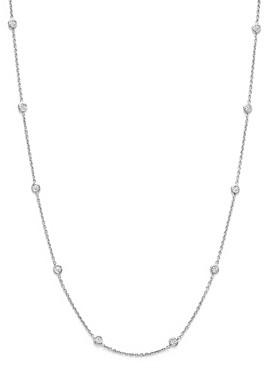 Roberto Coin 18K White Gold Diamond Station Necklace, 16
