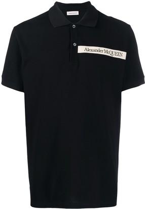 Alexander McQueen Pique Logo Polo Shirt