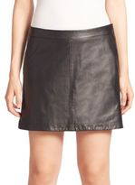 Joie Mayfair Leather Mini Skirt