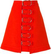 Carven buckle detail skirt - women - Acetate/Viscose/Wool - 38