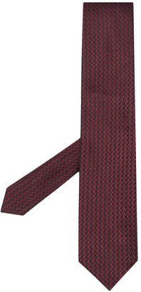 Tom Ford Woven Zig-Zag Tie