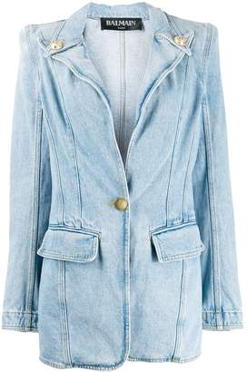 Balmain blazer style denim jacket