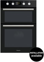 Hotpoint DD2844CBL 60cm Built-In Double Electric Oven With Optional Installation - Black