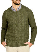 Haggar Cable Knit Crew Neck Sweater