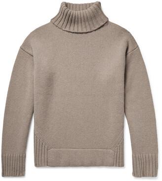 Deveaux Justin Ribbed Wool And Cashmere-Blend Rollneck Sweater