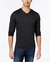 Alfani Big and Tall Long-Sleeve Split Crewneck T-Shirt